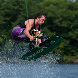 by Jeannette Thalmann-Bendeth - Sports & Fitness Watersports ( sws, summer water sports, wakeboard, sparrow lake, obrien, canada, canon eos 5d mark iii, ben )
