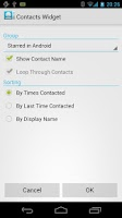 Screenshot of Resizable Contacts Widget