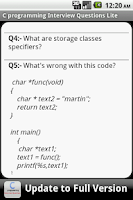 Screenshot of C Programming FAQS Lite