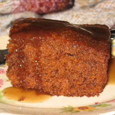 Gingerbread Cake With Brown Sugar Sauce