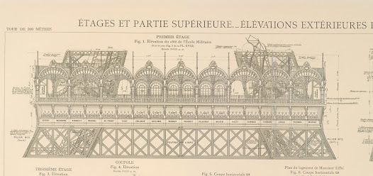 The first floor - Copy of Gustave Eiffel's original plates