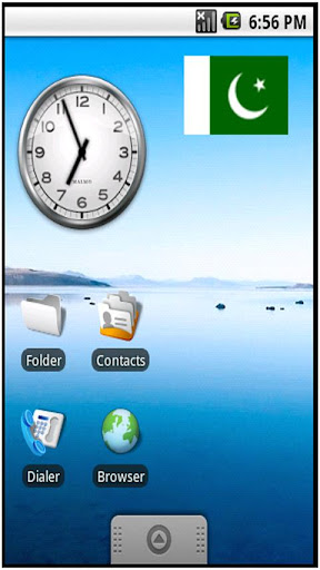 Pakistan Flag Sticker Widget