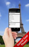 Screenshot of SpeakEasy French LT Phrasebook