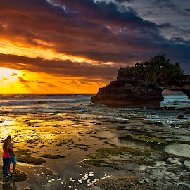 Sunset at Tanah Lot - Bali,Indonesia. by John Chung - Landscapes Travel