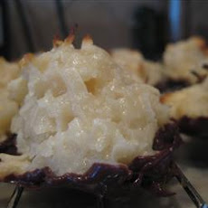Easy Chocolate Covered Coconut Macaroons