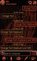 Screenshot of ORANGE TECH GO SMS Pro