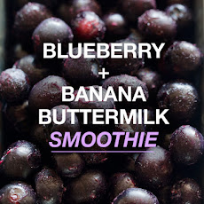 Blueberry and Banana Buttermilk Smoothie