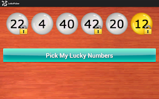 Screenshot of Lottery Number Picker