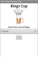 Screenshot of Drinking Game - Kings Cup