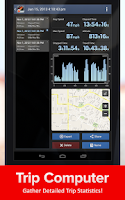 Screenshot of Speed Tracker, GPS speedometer