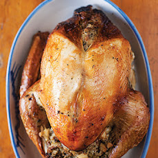 Roast Turkey with Celery-Root Stuffing and Giblet Gravy