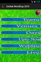 Screenshot of ICC Cricket Word Cup 2015