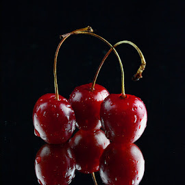 Three cherries by Rakesh Syal - Food & Drink Fruits & Vegetables (  )