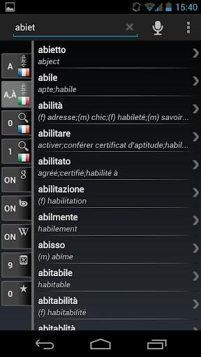 Dictionary French Italian
