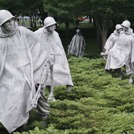 Korean War Veterans Memorial, Washington,DC by Chris Goodwin - Buildings & Architecture Statues & Monuments ( korean war veterans memorial, veterans, washington dc, war veterans, military,  )