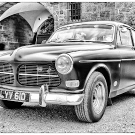 Old Volvo by Dez Green - Transportation Automobiles ( automobiles, monochrome, vintage, cars, volvo )
