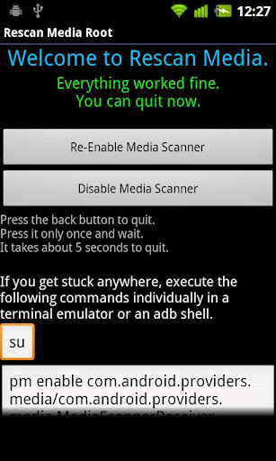 Rescan Media ROOT - Android Apps on Google Play