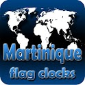 Martinique flag clocks icon