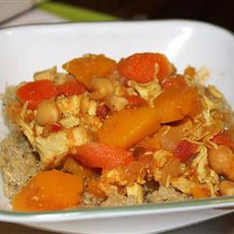 Moroccan Butternut Squash And Chickpea Tagine With Quinoa Recipes ...