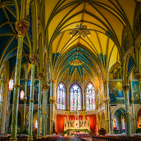 St. Jones Cathedral, Savannah GA by Jacob Padrul - Buildings & Architecture Places of Worship ( savannah, interior, colorful, impressive, cathedral )