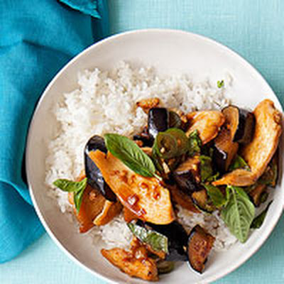 Chicken and Eggplant Stir-Fry