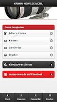 Screenshot of Canon News Mobil