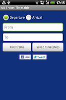 Screenshot of UK Trains Timetable Free