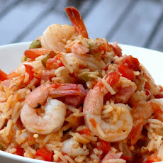 Jambalaya with Shrimp and Ham