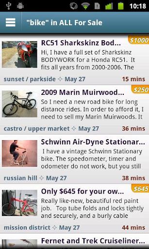 craigslist-mobile for android screenshot