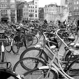 Bicycles x infinity by Shona McQuilken - Transportation Bicycles ( bike, transport, holland, dam square, amsterdam, bicycle )