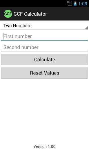 GCF Calculator