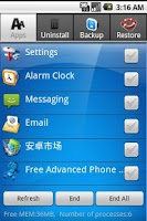 Screenshot of Advance Phone Assistant