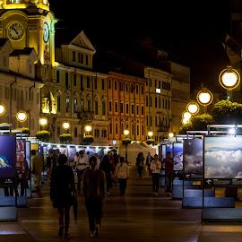 Grad koji teče by Milan Mihaljević - City,  Street & Park  Street Scenes ( night photography, art, night, town, canon eos,  )