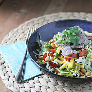 Tropical Lime Beef Salad with Mango
