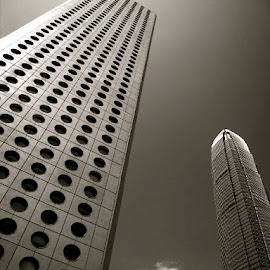Skyscraper in Hong Kong by Tyrell Heaton - Buildings & Architecture Architectural Detail ( hong kong, skyscraper )