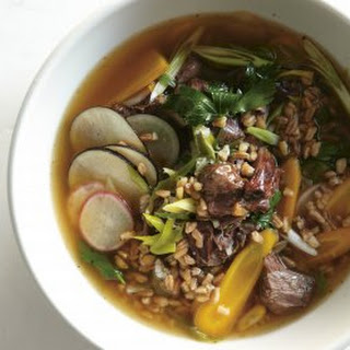 Beef Shin And Farro Soup