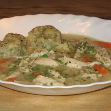 Crock Pot Chicken Stew With Cheddar Cornmeal Dumplings