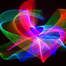 Broken heart by Jim Barton - Abstract Patterns ( heart, laser light, colorful, light design, lasert light show, laser design, laser, light, broken heart, science, mood factory, vibrant, happiness, January, moods, emotions, inspiration )