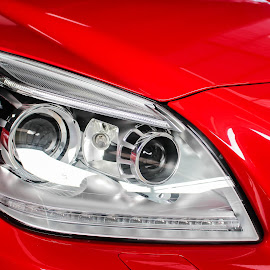 HeadLamp by Wahyu Pambudi - Transportation Automobiles ( car, headlamp, red, indonesia, banyumas, mercedes, 100d )
