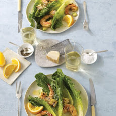 Sour-Orange and Grilled Jumbo-Shrimp Caesar Salad