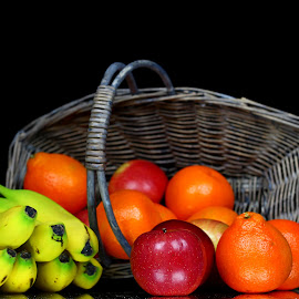 by Dipali S - Food & Drink Fruits & Vegetables ( orange, fruit, weight, diet, green, fruits, oranges, delicious, health, banana, balance, organic, nutrition, vitamins, red, color, apple, food, basket, healthy, vitamin, vegetable, natural )