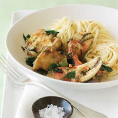 Vietnamese-style Spicy Crab with Garlic Noodles