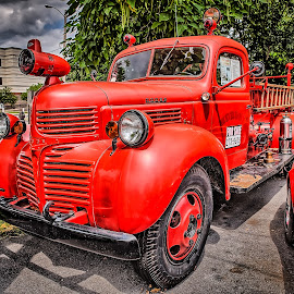 Fire Truck by Ron Meyers - Transportation Automobiles