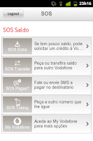 Screenshot of Vodafone SOS Saldo