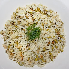Iraqi Mung Beans and Rice - Mash M'tubuq
