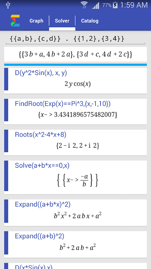 Math Solver Screenshot