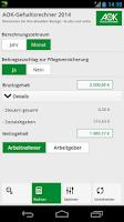 Screenshot of AOK-Gehaltsrechner