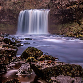 Falls. by Clive Chick - Nature Up Close Rock & Stone