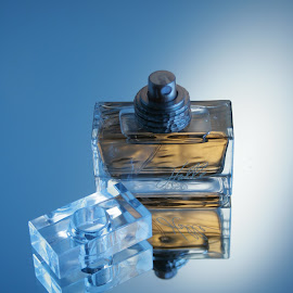 Perfume by Staci Ferrara - Artistic Objects Still Life ( product, cologne, blue, glass, perfume )