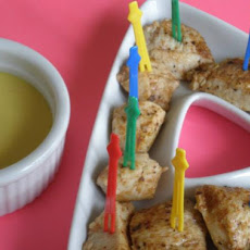 Cajun Chicken Cubes With Honey Mustard Dipping Sauce